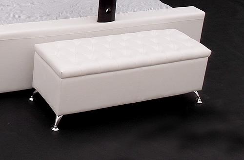 hocker aufklappbar pu leder weiss neuware edel ebay. Black Bedroom Furniture Sets. Home Design Ideas