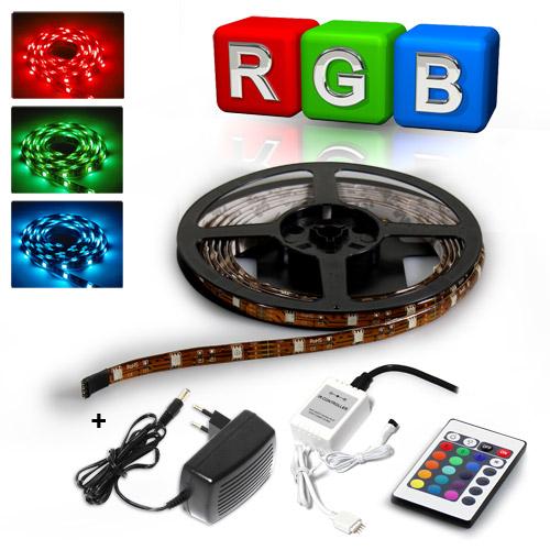 WOW-DEAL-500cm-RGB-STRIP-FERNBEDIENUNG-NETZTEIL-LED-SMD-LEISTE-STRIPE