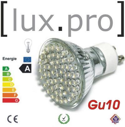 10x lux pro led spot lampe leuchtmittel gu10 230v warm ebay. Black Bedroom Furniture Sets. Home Design Ideas