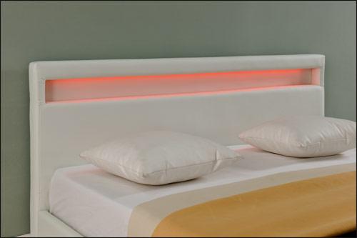 design led double bed upholstered bed 140x200cm bedstead. Black Bedroom Furniture Sets. Home Design Ideas