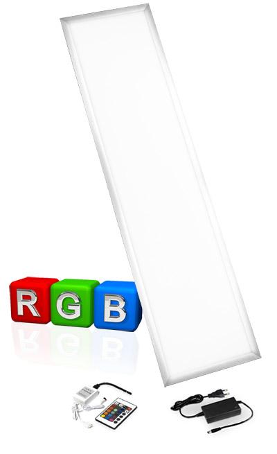 led rgb panel 120x30cm ultraslim farbwechsel fernbedienung dimmbar ebay. Black Bedroom Furniture Sets. Home Design Ideas