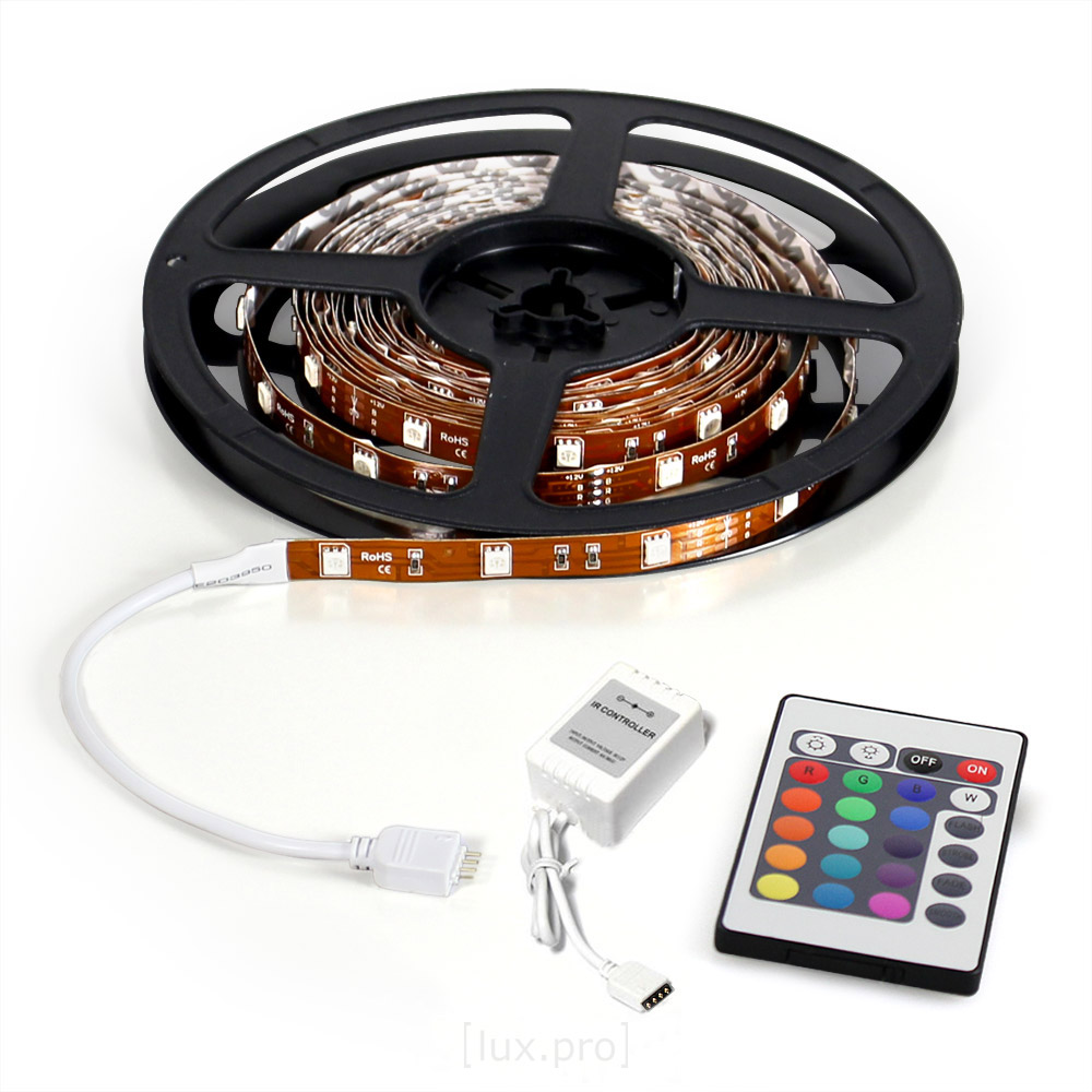 Lux-Pro-300cm-3m-LED-SMD-STRIP-LEISTE-RGB-5050-FERNBEDIENUNG-3-METER-STRIPE