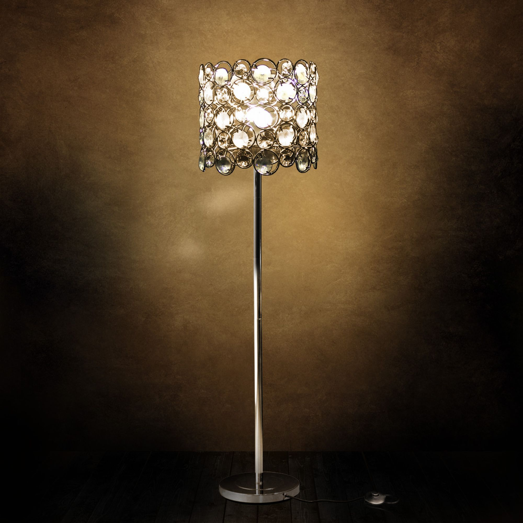 Crystal floor lamp standard lamp living room lamp light for Ebay living room lights