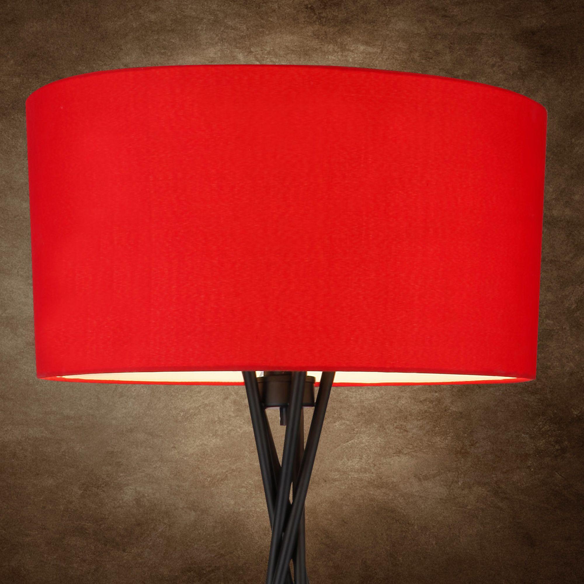 Moderne Stehleuchte Mit Rotem Schirm Und Stilvollem Fuss Diese Leuchte Gibt Jedem Raum Eine Ganz Persnliche Note Verleiht Warme Atmosphre