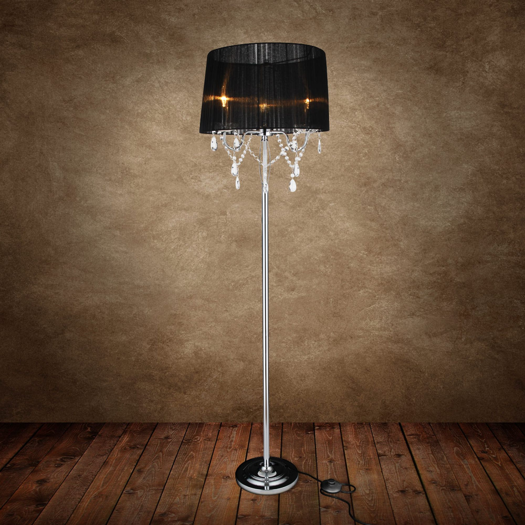 Standard lamp elegant living room lamp with crystal ebay Living room lamp