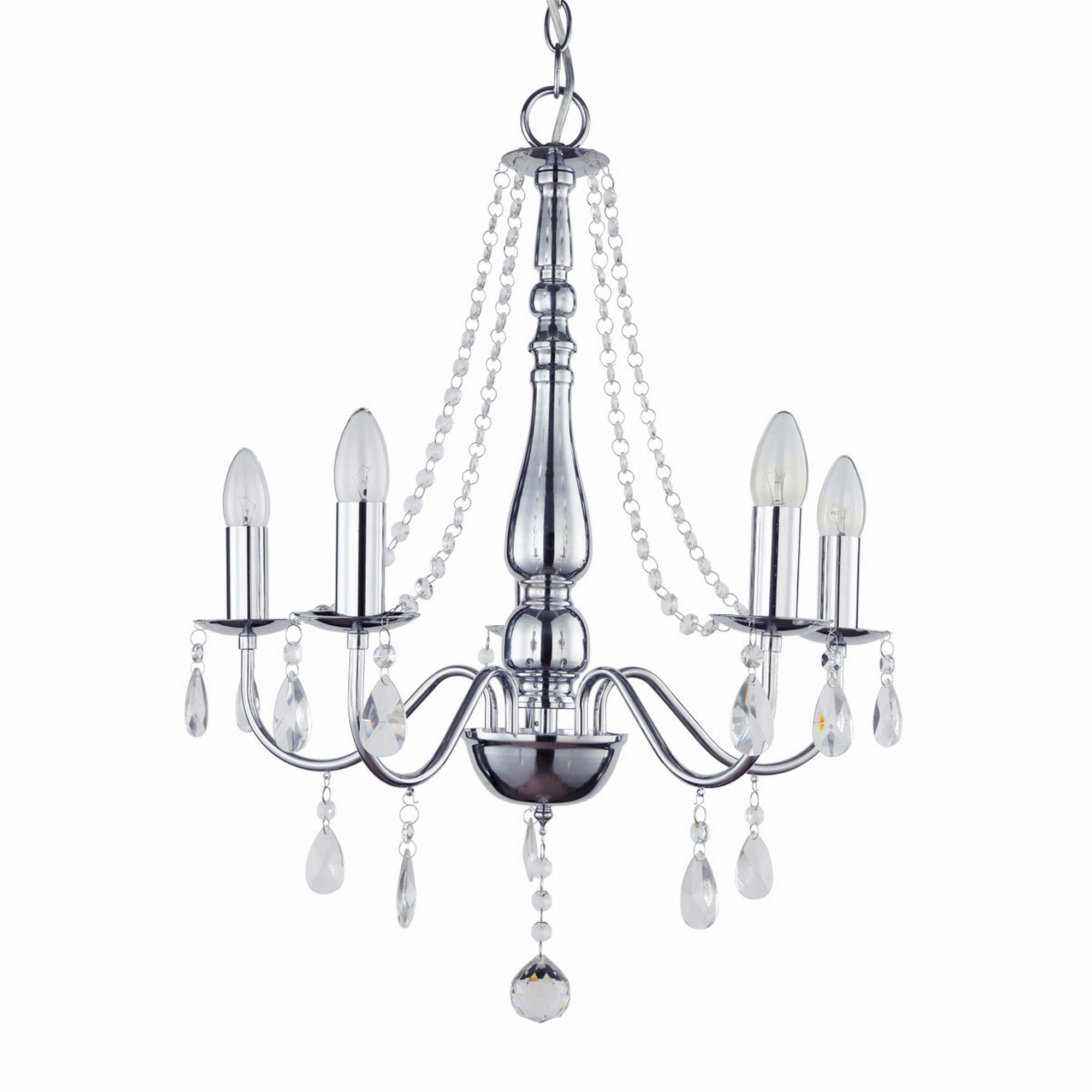 kristall chrom kronleuchter l ster deckenleuchte h ngeleuchte lampe ebay. Black Bedroom Furniture Sets. Home Design Ideas