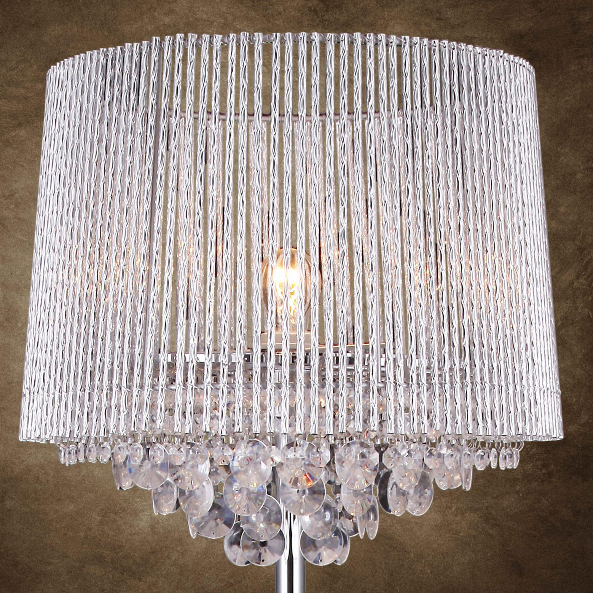 elegante luxpro kristall stehleuchte stehlampe lampe. Black Bedroom Furniture Sets. Home Design Ideas