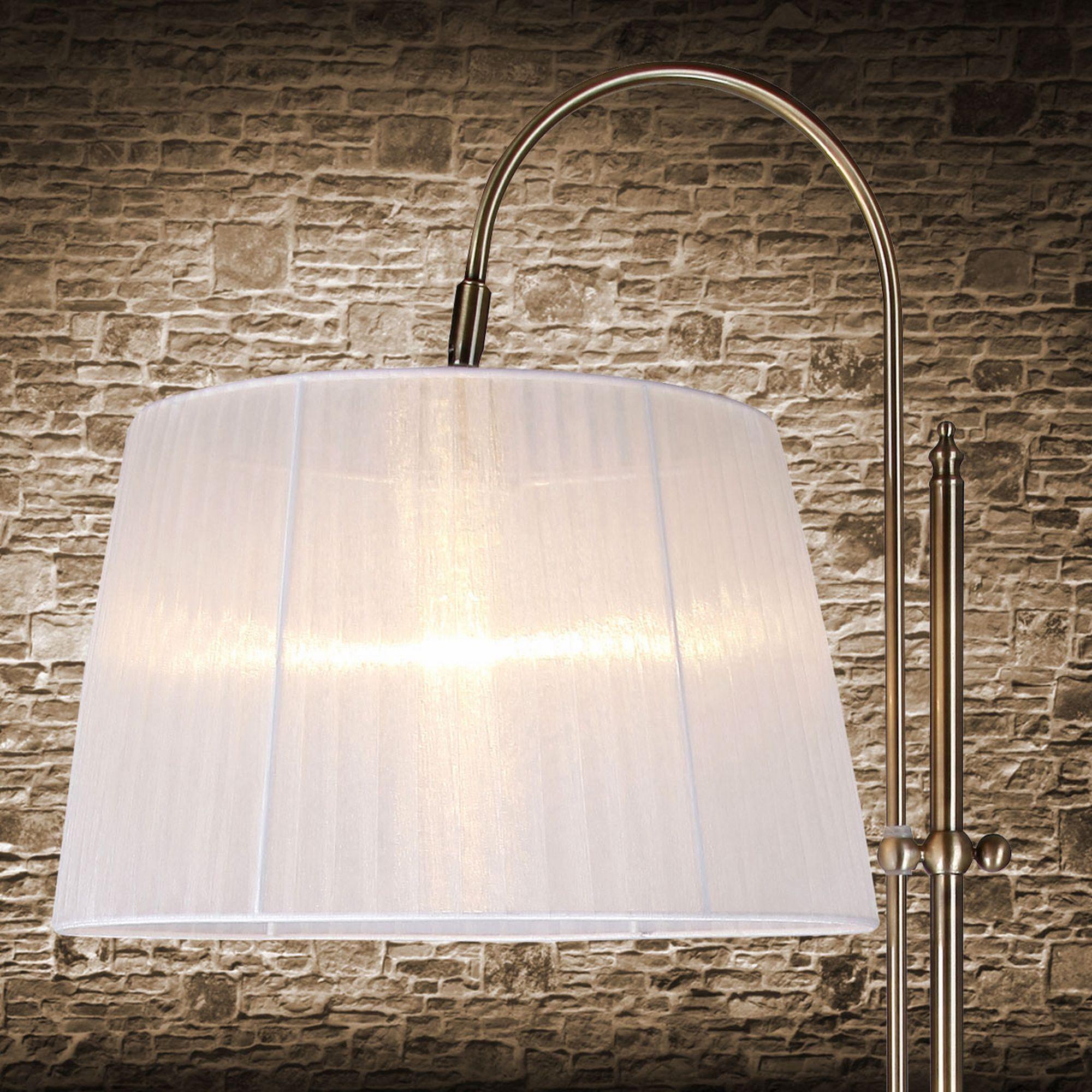 Elegante Stehleuchte Stehlampe Bogen Lampe Wohnzimmerlampe