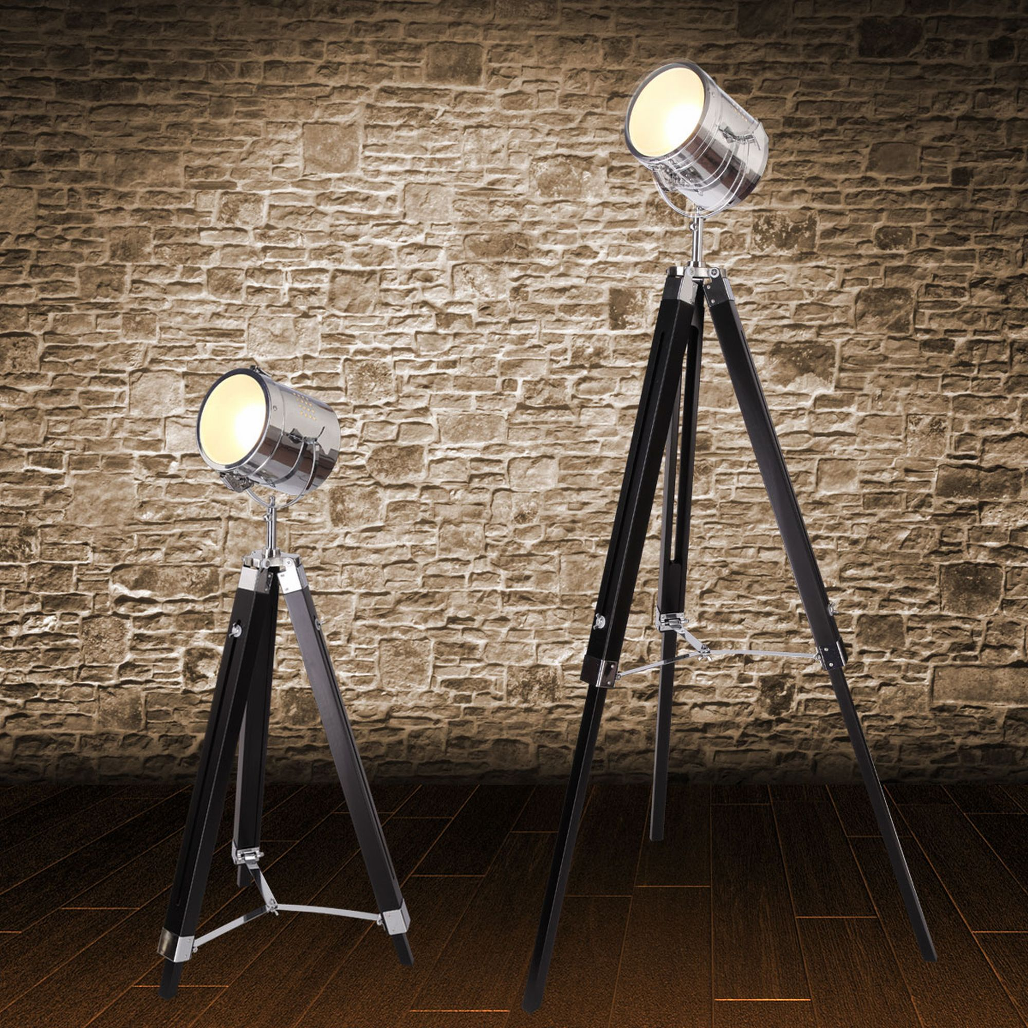 mojo stehleuchte tripod lampe dreifuss urban design h henverstellbar mq l37. Black Bedroom Furniture Sets. Home Design Ideas