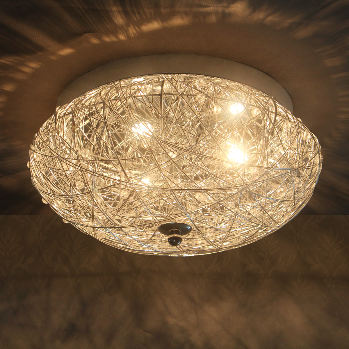 lux.pro® deckenleuchte deckenlampe lampe leuchte mesh kristall