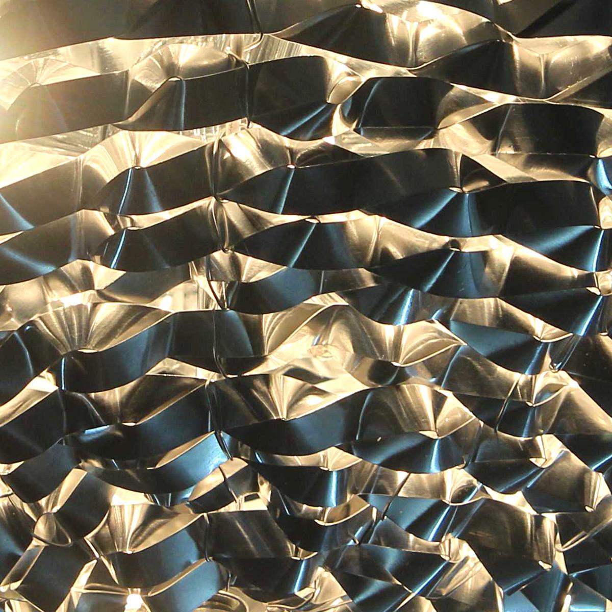 Wohnzimmer Lampe Oval Deckenleuchte Deckenlampe Leuchte Mesh Kristall Chrom