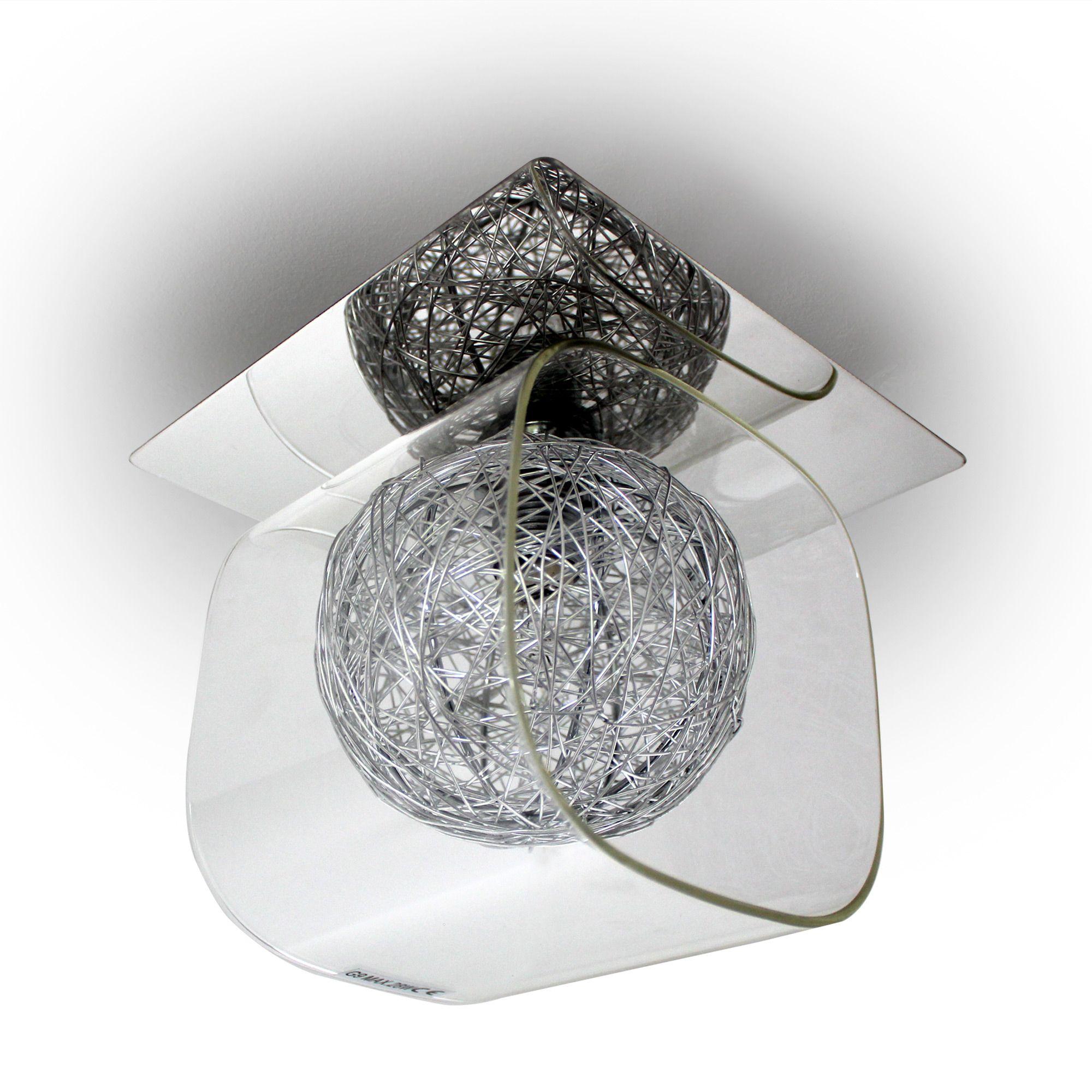 Beleuchtung Wohnzimmer LuxluxproR Deckenleuchte Deckenlampe Lampe Leuchte Mesh Kristall Chrom