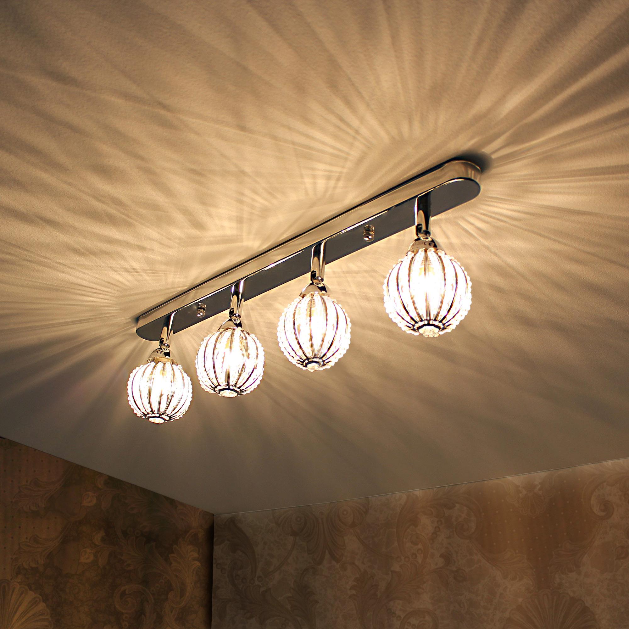 deckenleuchte deckenlampe lampe leuchte mesh kristall chrom wohnzimmer ebay. Black Bedroom Furniture Sets. Home Design Ideas