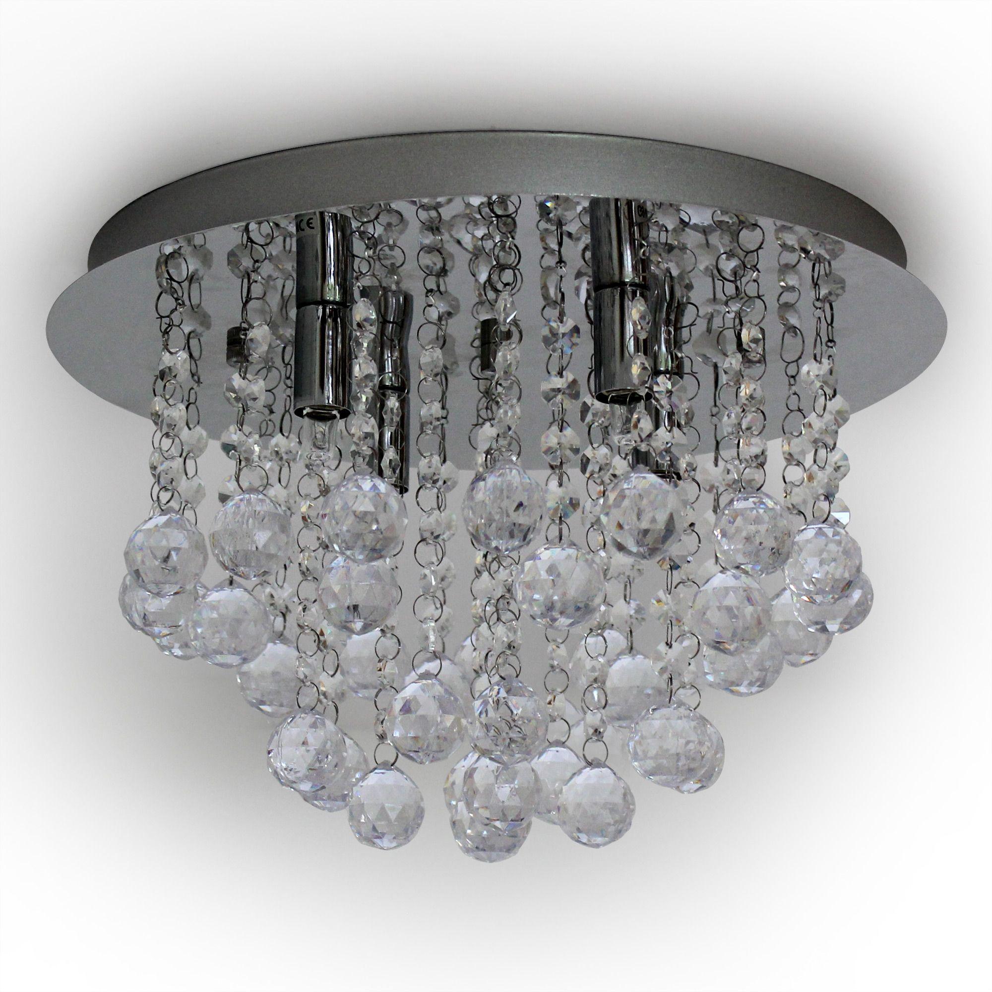 luxpro led kristall deckenleuchte 28cm deckenlampe 3xg9. Black Bedroom Furniture Sets. Home Design Ideas