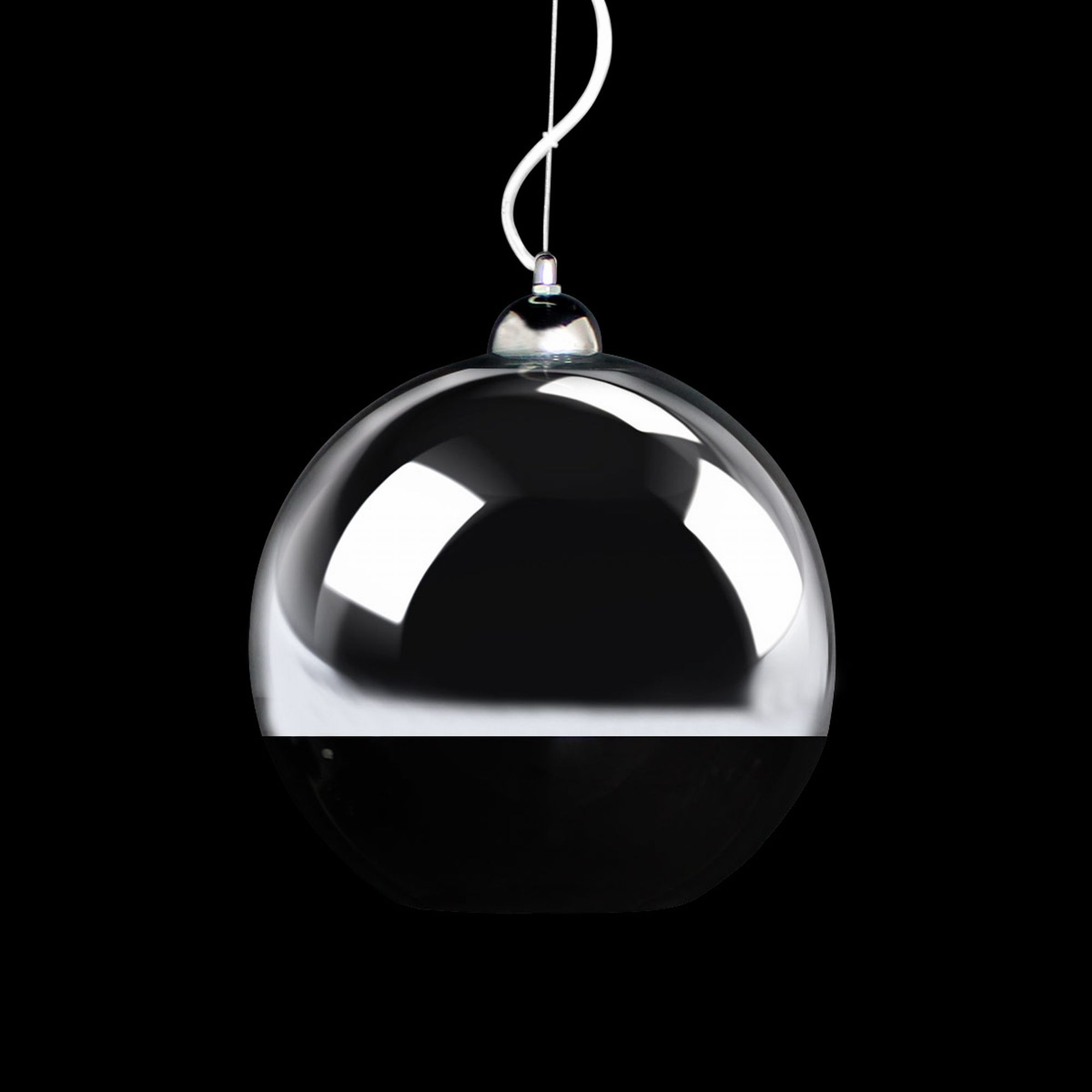 Ceiling Light LuxPro LED Glass Sphere Pendulum Hanging