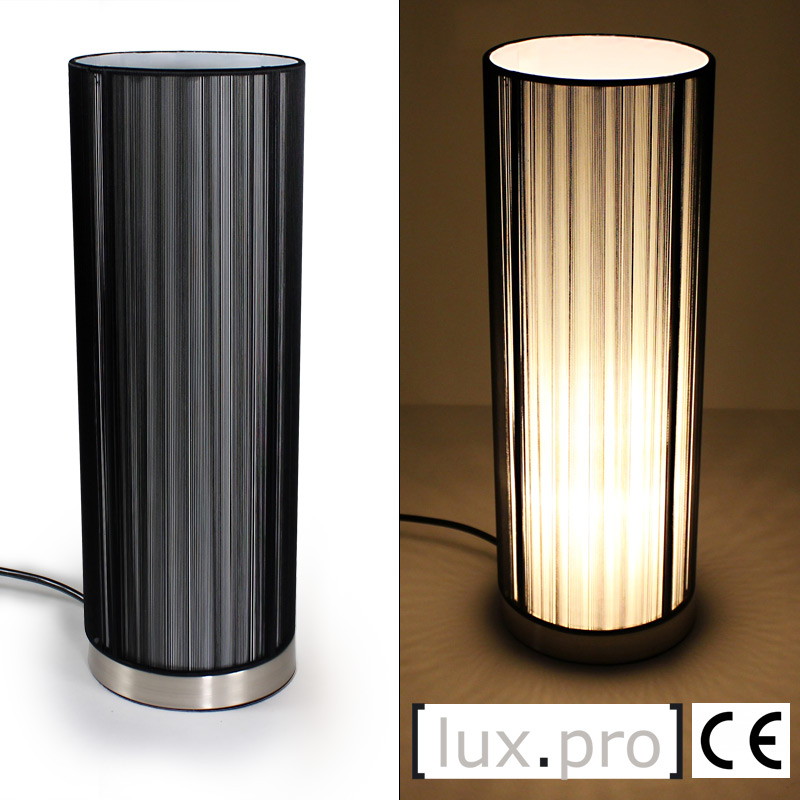 lux pro moderne tischlampe tischleuchte nachttischlampe schreibtischlampe e14 ebay. Black Bedroom Furniture Sets. Home Design Ideas