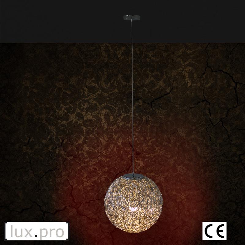 lux pro draht h ngeleuchte 47 5cm pendelleuchte kugel h ngelampe lampe e27 ebay. Black Bedroom Furniture Sets. Home Design Ideas