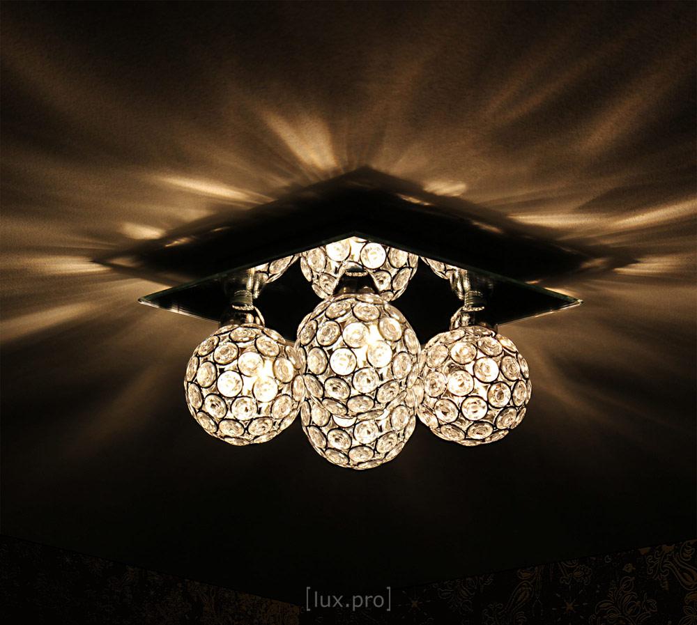 Lux Pro Deckenleuchte Kristall Kugel 4 Flammig Deckenlampe