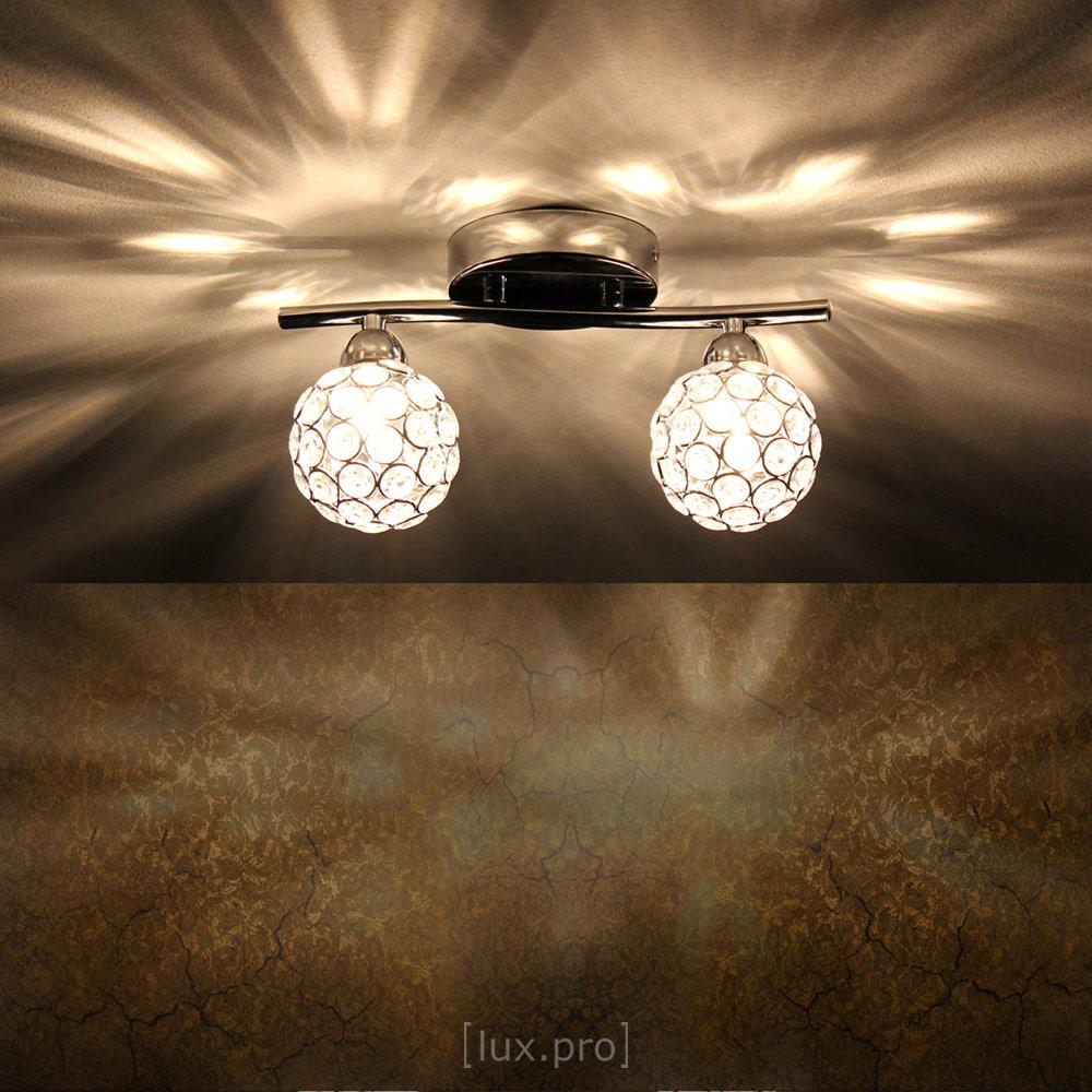 Luxpro deckenleuchte kristall kugel 2 flammig moderne for Moderne deckenlampe