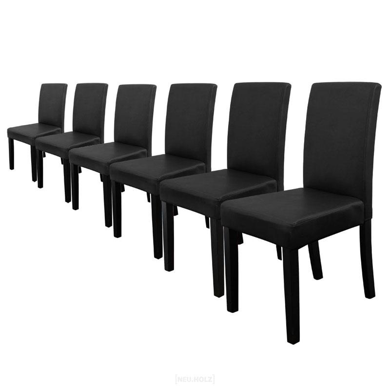 lederstuhl schwarz esszimmer. Black Bedroom Furniture Sets. Home Design Ideas