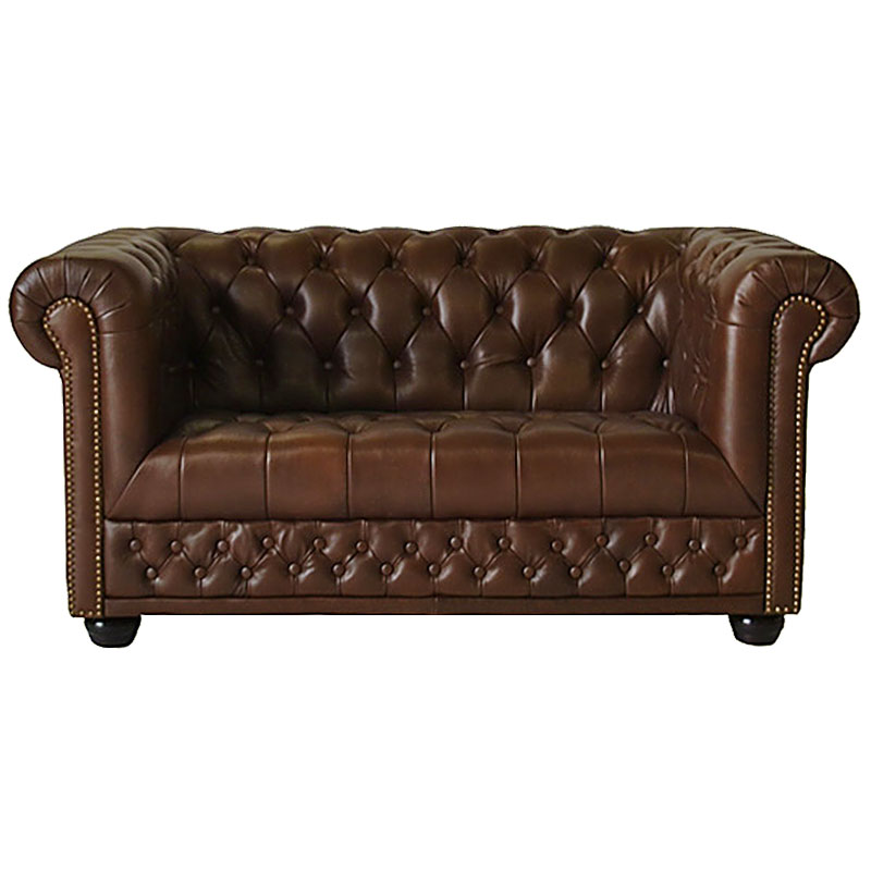 chesterfield 2er sofa couch spalt leder antique braun hamilton zweisitzer ebay. Black Bedroom Furniture Sets. Home Design Ideas