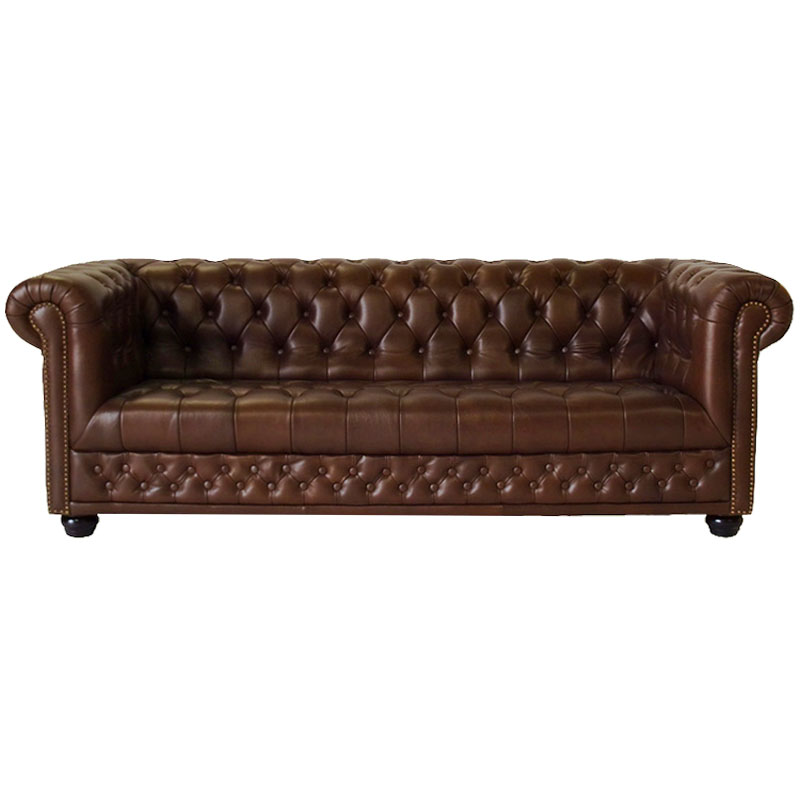 chesterfield 3er sofa couch spalt leder antique braun. Black Bedroom Furniture Sets. Home Design Ideas