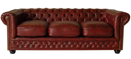 chesterfield 3er sofa couch antique red dreisitzer rot federkern kunstleder ebay. Black Bedroom Furniture Sets. Home Design Ideas