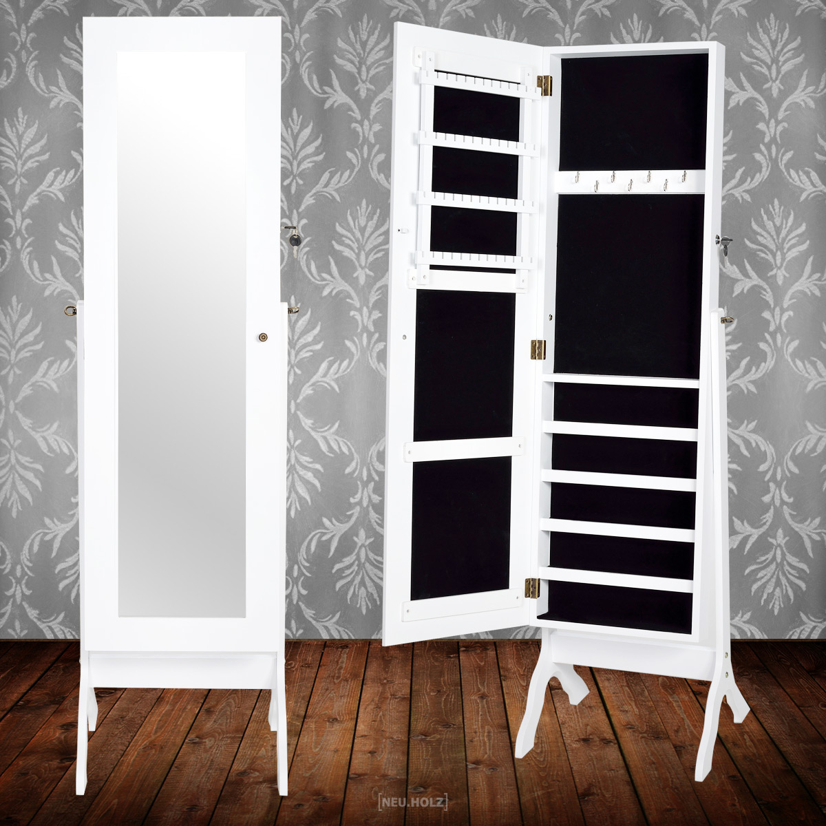 schmuckschrank frisierkommode kommode spiegel schminktisch kommode wei shabby ebay. Black Bedroom Furniture Sets. Home Design Ideas