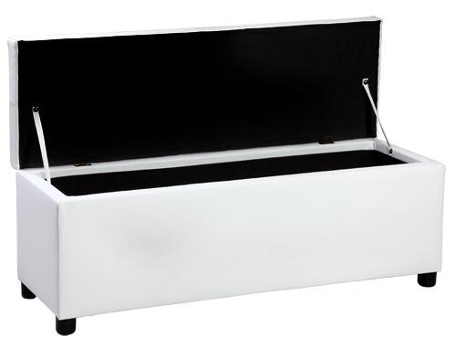 neuholz ottomane sitztruhe polsterbank sitzhocker betthocker wei truhe bank ebay. Black Bedroom Furniture Sets. Home Design Ideas