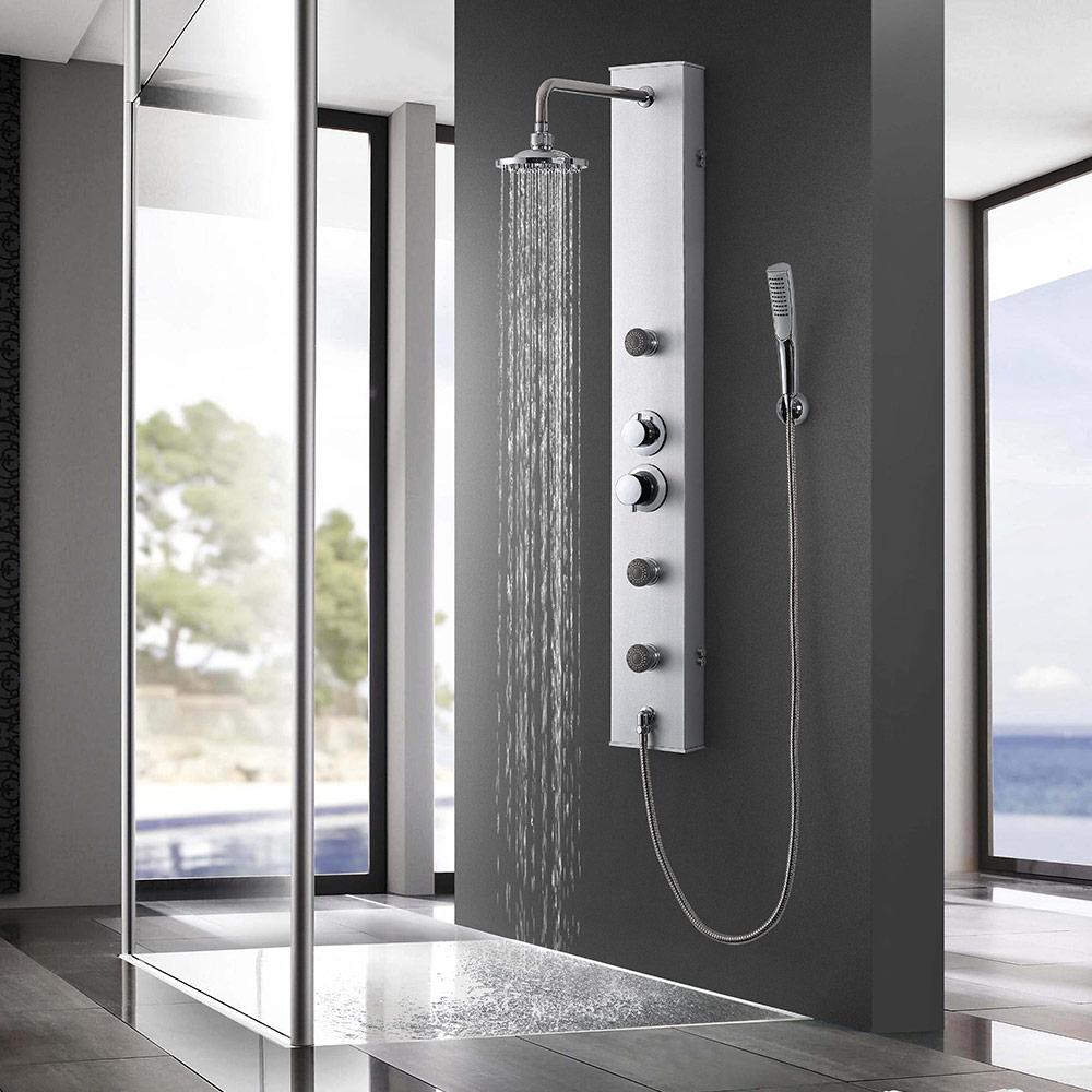 neuhaus led duschset duscharmatur handbrause duschbrause regendusche duschs ule ebay. Black Bedroom Furniture Sets. Home Design Ideas