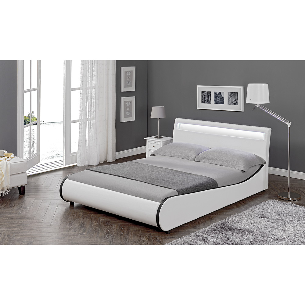corium led diseo tapizados cama xcm cama doble blanca marco cuero