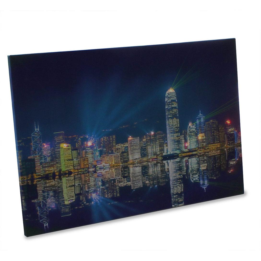 led wandbild leinwand wandbilder xxl leucht bild leuchtend ebay. Black Bedroom Furniture Sets. Home Design Ideas