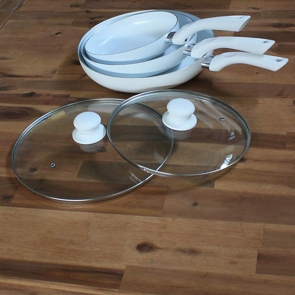 neu holz keramik pfannenset 5 tlg pfanne bratpfanne induktion set grill deckel ebay. Black Bedroom Furniture Sets. Home Design Ideas