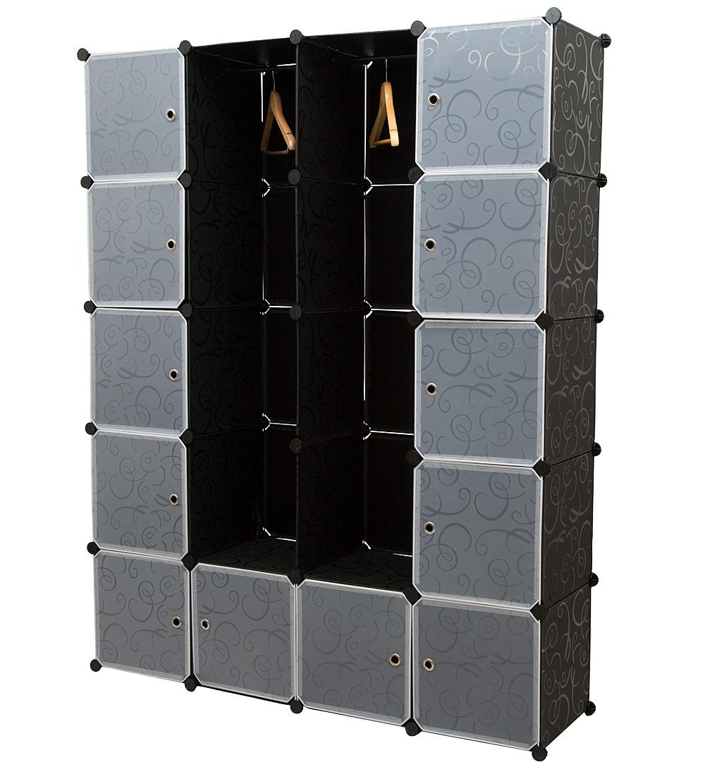 neu haus diy system regal schrank garderobe schwarz wei steck b ro b cher ebay. Black Bedroom Furniture Sets. Home Design Ideas