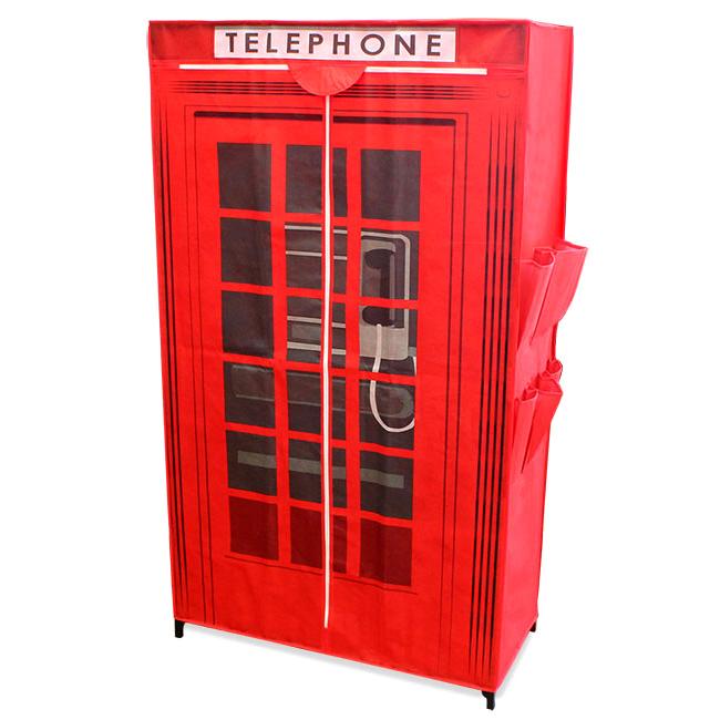 ... Kleiderschrank-Stoff-Falt-Schrank-Wohnzimmer-Garderobe-Vintage-London