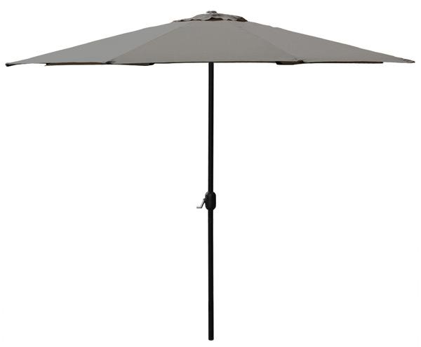 sonnenschirm halb schirm wandhalterung 300cm creme grau gr n kurbel garten ebay. Black Bedroom Furniture Sets. Home Design Ideas