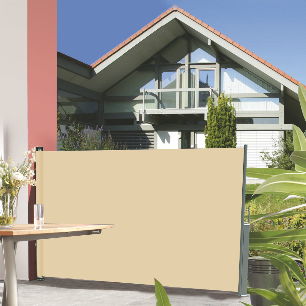 Sichtschutz Holz HOhe 160 Cm ~ NEU HOLZ® Seitenmarkise 180x300cm Sichtschutz Sonnenschutz Seitenwand