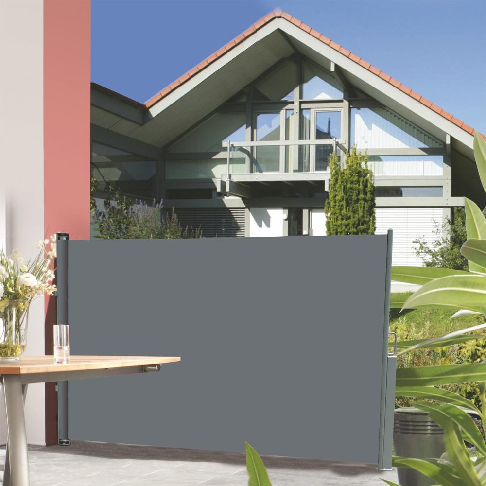seitenmarkise grau beige 180x300cm sichtschutz. Black Bedroom Furniture Sets. Home Design Ideas