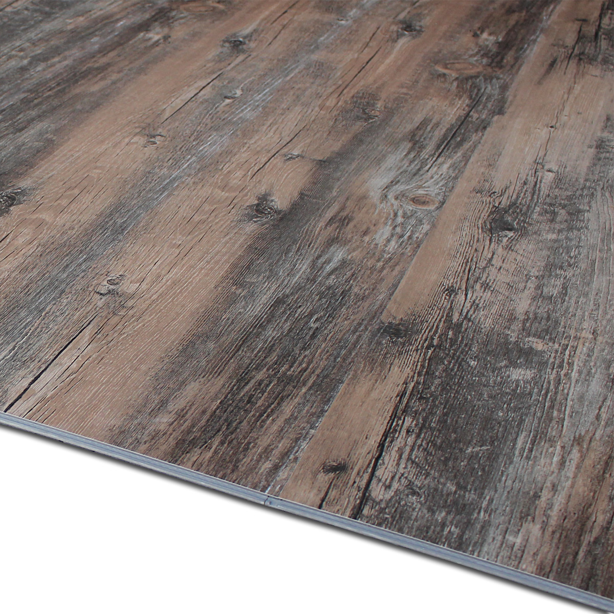 New oak 2 4 m vinyl laminate click oak old oak floor vinyl for Click flooring