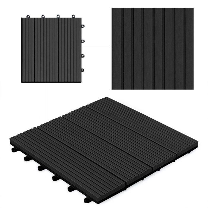 neu holz 11 st ck wpc fliese bodenfliese 1m 30x30 terasse balkon garten wenge ebay. Black Bedroom Furniture Sets. Home Design Ideas