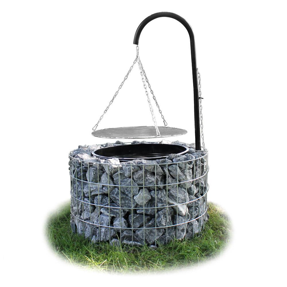 neu holz gabionen grill kohlegrill bbq holzkohlegrill standgrill schwenkgrill ebay. Black Bedroom Furniture Sets. Home Design Ideas