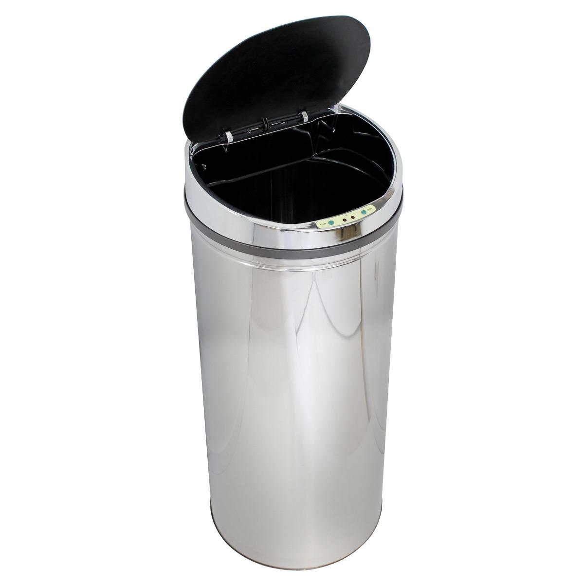 acier inoxydable poubelle automatique capteur corbeille poubelle d tecteur mvt ebay. Black Bedroom Furniture Sets. Home Design Ideas
