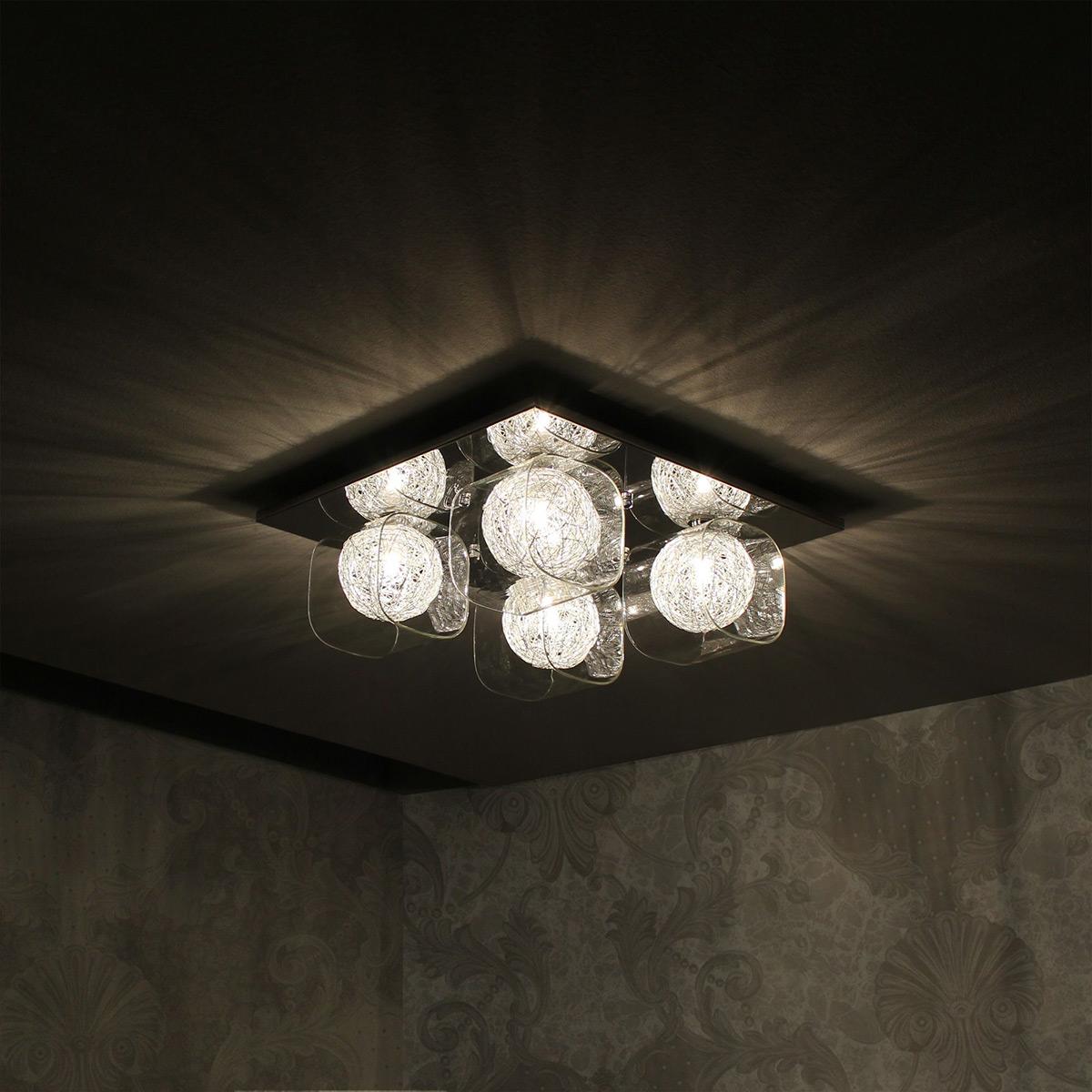 lux pro deckenleuchte deckenlampe lampe leuchte mesh kristall - Beleuchtung Wohnzimmer Lux