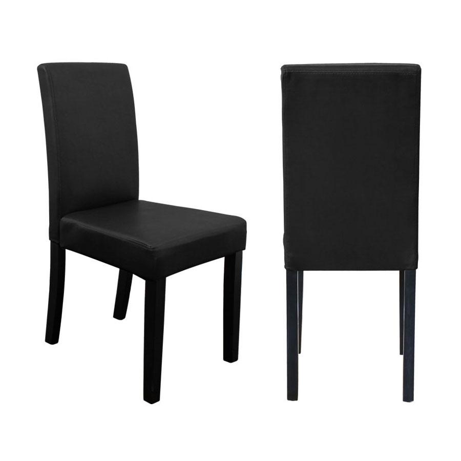 1st stuhl hochlehner esszimmerst hle dunkel braun schwarz pu leder st hle neu ebay. Black Bedroom Furniture Sets. Home Design Ideas
